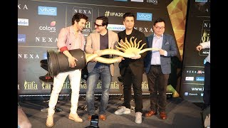 IIFA 2017 Press Conference Varun Dhawan, Saif Ali Khan, Karan Johar