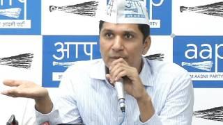 Aap Chief Spokesperson (Delhi) Brief's Media on MCD issue