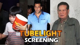 Matin Rey Tangu & Salim Khan At Salman's Tubelight Screening