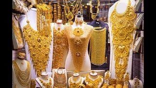 Dubai Gold Souk - City of Gold (Amazing collections of gold, silver ,diamonds & precious stones)