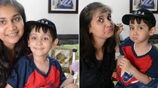 My 4 Year old Son Does my makeupNidhi Katiyar