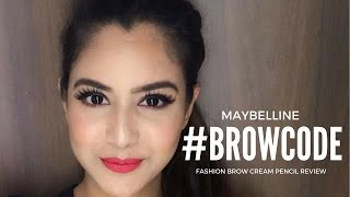 NEW MAYBELLINE FASHION BROW PENCIL REVIEW