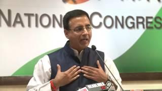 AICC Media Byte By Shri Randeep Surjewala at Congress HQ