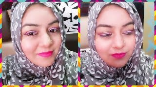 Eid Makeup Tutorial (Easy) | Pink winger liner with black outline & Pink Matte Lips  JSuper Kaur