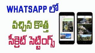 Enable HIDDEN PHOTO ALBUM Feature in WhatsApp Telugu