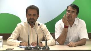 AICC Press Briefing By Shaktisinh Gohil at Congress HQ, June 27, 2017