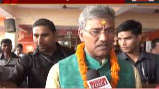 india voice correspondent interview with uttrakhand CM Trivendra Singh Rawat