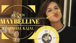 MAYBELLINE COLOSSAL KAJAL REVIEW | NEW LAUNCH | 24HR SMUDGE PROOF