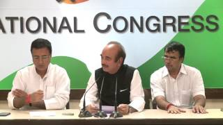 AICC Press Briefing By Ghulam Nabi Azad at Congress HQ, June 28, 2017