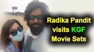 KGF Movie Latest Update | Radhika Pandit Visits Yash KGF Movie Sets | Kannada News | Top Kannada TV