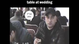 When camera man comes to your table at wedding