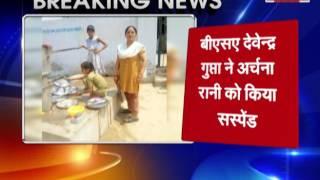 students washing bartan After cm yogi visit in hapur school