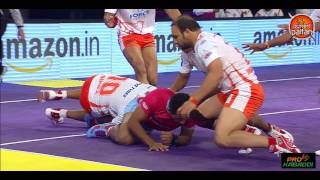 Top tackles by Ravinder Pahal in Pro Kabaddi League Season 4