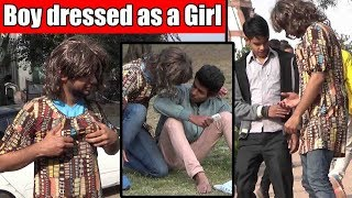Boy Dressed as a Girl Shemale kissing in Public | Main Bhi Hoon Unglibaaz Ep.2