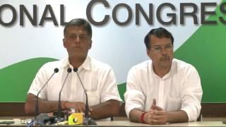 AICC Press Briefing By Manish Tewari at Congress HQ, July 10, 2017