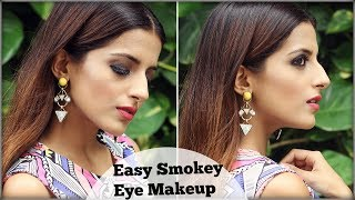 EASY Smokey Eye Make Up Tutorial for Wedding, Cocktail, Party/  Night Make up Routine