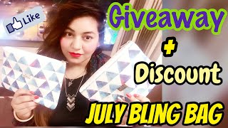 Bling Bag Unboxing | Jewellery Subscription Box | Bling Bag July 2017 | JSuper Kaur Discount