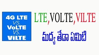 Difference between Lte,Volte and Vilte | Telugu Tech Tuts