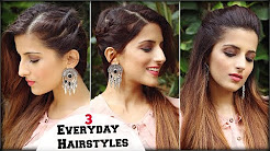 1 Min CUTE & EASY Everyday Simple Hairstyles For School, College, Work/ Jennifer Winget Inspired