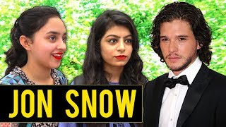 GAME OF THRONES CUTE GIRLS ON JON SNOW FUNNY INTERVIEW SEASON 7