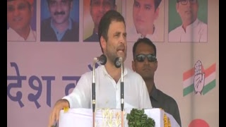 Congress VP Rahul Gandhi addresses Kisan Aakrosh Rally in Banswara, Rajasthan