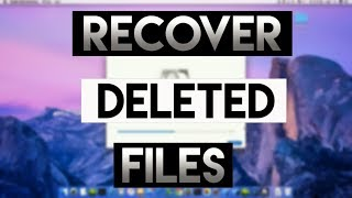 Recover Deleted Files On Mac - NoQualityLoose!