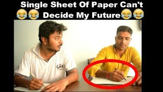 FUNNY VINES - SINGLE SHEET OF EXAM PAPER CAN'T DECIDE MY FUTURE | FUNNY VIDEOS | DON'T MISS THE END