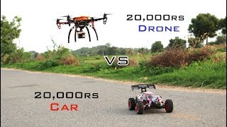 Car VS Drone Race | 80km/hr | Remo Hobby Buggy Scorpio Car | Indian LifeHacker