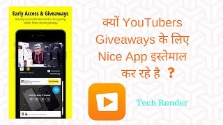 What is Nice App ? | How To Win the Contest In Nice App ? | Hindi | Tech Render |