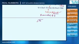 HCF & Euclid's Division Lemma
