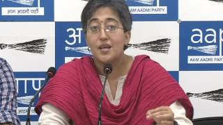 Aap Leaders Brief Media on Saffronisation of Education by BJP