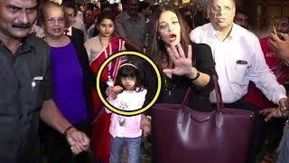 Aishwarya Rai's Daughter Cute Aaradhya Bachchan Gets Scared Of Reporters At Airport