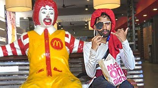 JACK SPARROW Goes to McDonald's Pranks in India