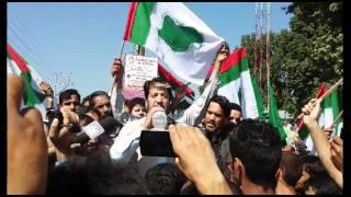 Beef Ban: Hurriyat (G) leader Shabir Shah leads protest demonstration in Pulwama