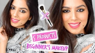 MAKEUP FOR BEGINNERS! 5 Products Makeup Starter Kit Is ALL YOU NEED!