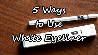 5 Ways to use white eyeliner |How to Use a White Eyeliner | Me Now Water Resistant White Eyeliner