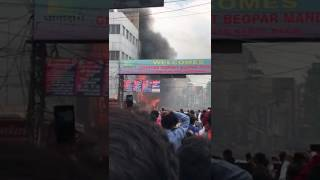 Fire broke in Gaffer market 1