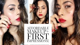 AFFORDABLE MAKEUP + FIRST IMPRESSIONS |GLAM LOOK