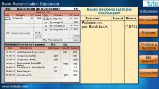 Bank Reconcilation Statement | Letstute