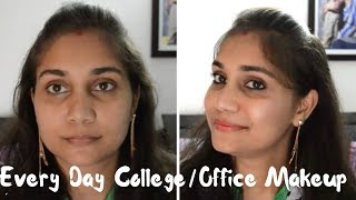 No Foundation - No Concealer Everyday Office/College Makeup | Nidhi Katiyar