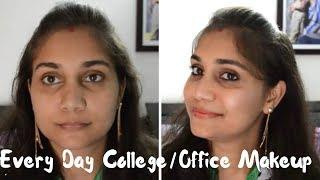 No Foundation - No Concealer Everyday Office/College Makeup | Nidhi Katiyar