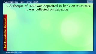 Accounting Test Time #01- Bank Reconcilation Statement | Letstute