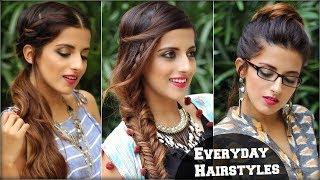 3 Everyday CUTE Effortless Boho Hairstyles for School, College, Work/ Quick Hair Tutorial/ Vajor