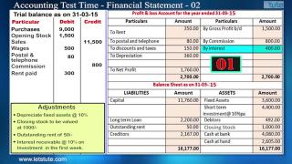 Accounting Test Time#08- Financial Statement | Letstute