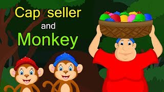 Monkey and cap seller in English | Moral story in English | StoryAtoZ.com (English)