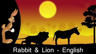 Rabbit and Lion English | Intelligence is mightier than physical strength | StoryAtoZ.com