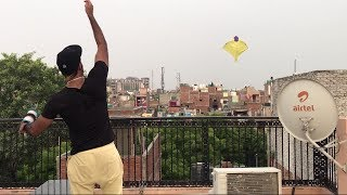 when desi boy flies a kite   kite flying tricks