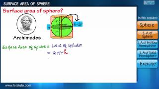 Surface Area of a Sphere | Letstute