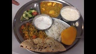 Indian Food at Hindu Temple | Indian Veg Thali - What I ate at the Langar
