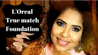 SINHALA SPRING  MAKEUP LOOK (LOREAL TRUE MATCH FOUNDATION) SRI LANKAN